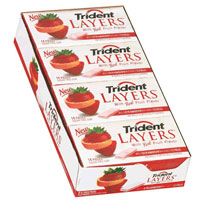 Trident Layers Sugar Free Gum Wild Strawberry & Tangy Citrus 12 pack (14ct per pack)  [012546600026]