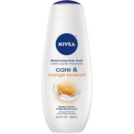 NIVEA Care & Orange Blossom Moisturizing Body Wash 16.9 oz [072140119478]