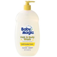 Baby Magic Gentle Hair & Body Wash, Soft Powder Scent 30 oz [075371050503]