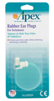 Apex Ear Plugs Rubber for Swimmers 1 Pair [076855000090]