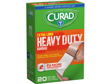Curad Heavy Duty Bandage Extra Long 20 Each .75 x 4.75 in [080196037752]
