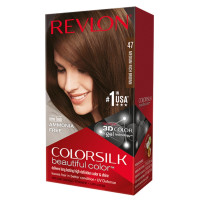 Revlon ColorSilk Hair Color, Medium Rich Brown [47] 1 ea [309978695479]