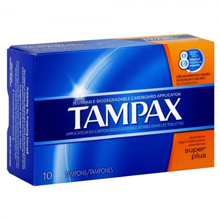 Tampax Biodegradable Applicator Tampons, Super Plus 10 ea [073010414099]