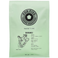 For Five Coffee Roasters Burundi Whole Bean 12 oz [853473008048]