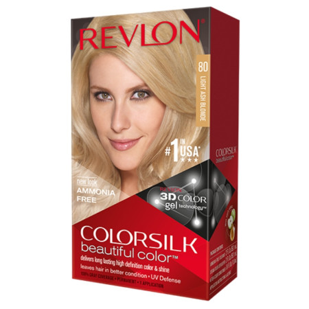 Revlon ColorSilk Hair Color 80 Light Ash Blonde 1 ea [309978695806]