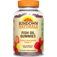 Sundown Naturals Fish Oil Omega-3 Gummies with D3, 50 ea [030768529581]