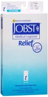 JOBST Medical LegWear Knee High 20-30 mmHg Firm Compression Large Beige Open-Toe 1 Pair [035664146276]