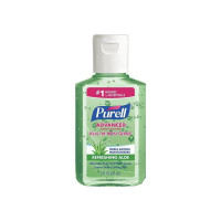 Purell Hand Sanitizer with Aloe Alcohol Ethyl Gel Bottle, 2 oz [073852096828]