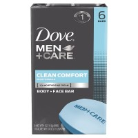 Dove Men + Care Body & Face Bar, Clean Comfort 4 oz, 6 ea [011111407848]