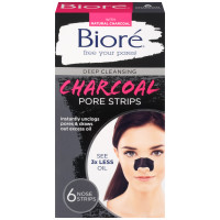 Biore Deep Cleansing Pore Strips, Charcoal 6 ea [019100207431]