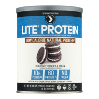 Designer Protein Lite Chocolate Cookies & Cream Natural Protein Powder, 9.03 oz  [844334010232]