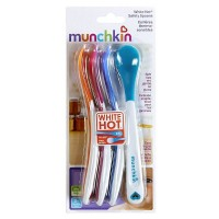 Munchkin White Hot Safety Spoons, Assorted Colors 4 ea [735282436826]
