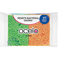 O-Cel-O Cellulose Sponges, Assorted Colors 4 ea [053200072742]