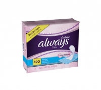 Always Thin Dailies, Unscented 120 ea [037000107965]