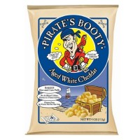 Pirate Bootys Popcorn, 4 oz Bags, Aged White Cheddar 12 ea [015665601004]