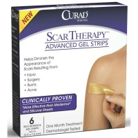 Curad Scar Therapy Advanced Gel Strips 6 Each [884389124317]