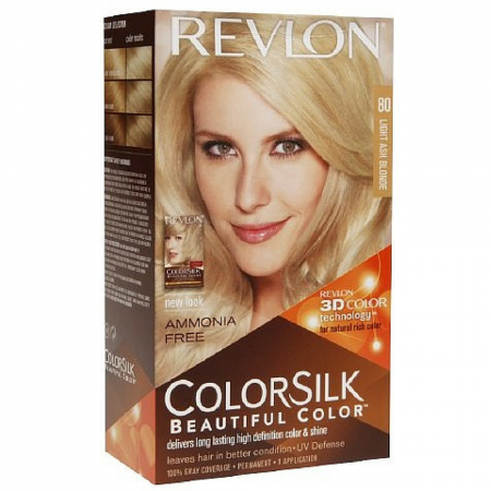 Revlon ColorSilk Hair Color 80 Light Ash Blonde 1 Each [309978695806]