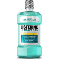 Listerine Ultra Clean Antiseptic Mouthwash, Cool Mint 1.8 oz [312547422673]