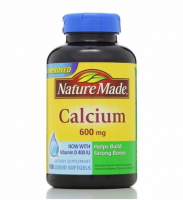 Nature Made Calcium 600 mg With Vitamin D Liquid Softgels 100 ea [031604025083]