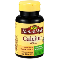 Nature Made Calcium 600 mg Tablets 60 ea [031604014735]