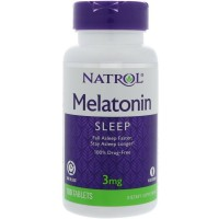 Natrol Melatonin 3 mg Sleep Time Release Dietary Supplement Tablets 100 ea [047469004583]