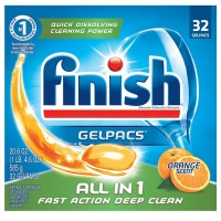 Finish Powerball Tabs Dishwasher Detergent Tablets, Orange Scent, 32 ct [051700810536]