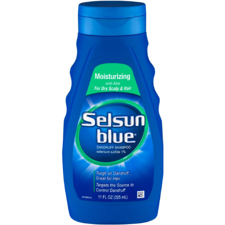 Selsun Blue Moisturizing with Aloe Dandruff Shampoo 11 oz [041167603529]