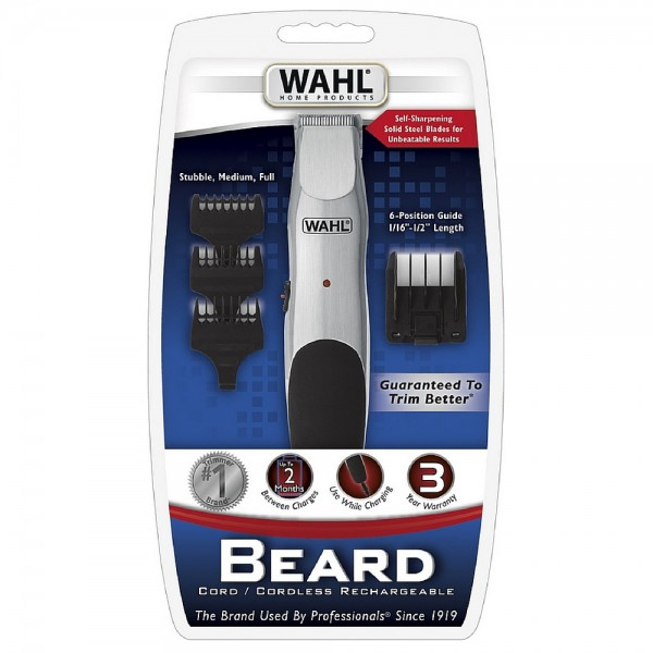 wahl cordless rechargeable beard trimmer 1 ea pharmapacks. Black Bedroom Furniture Sets. Home Design Ideas