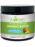 Sky Organics Moisturizing Unrefined Raw Mango Butter for Skin, 1 lb. [856045007173]