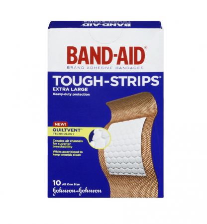 BAND-AID Tough-Strips Bandages, Extra Large 10 ea [381370044246]