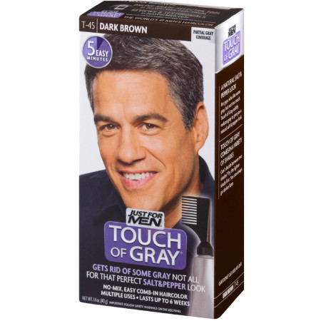 JUST FOR MEN Touch of Gray Hair Treatment T-45 Dark Brown, 1 Each [011509041371]