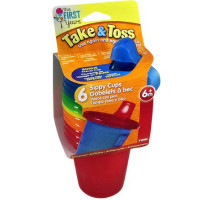 The First Years Take & Toss Spill-Proof 7 oz Sippy Cups 6 ea Assorted Colors  [071463013005]