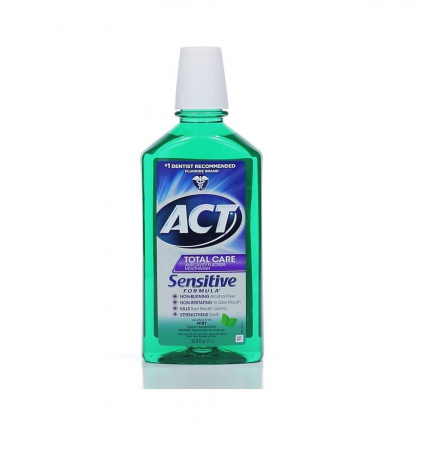 ACT Total Care Anticavity Fluoride Mouthwash Sensitive Formula Mild Mint 33.80 oz [041167096444]