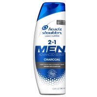 Head & Shoulders 2 In 1 Men Advanced Charcoal Shampoo to Deep Clean & Detox Scalp 12.8 oz [037000782643]