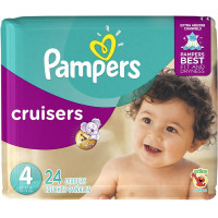 Pampers Cruisers Diapers, Size 4 24 ea [037000862598]