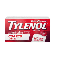 TYLENOL Extra Strength Acetaminophen Adult Pain Relief & Fever Reducer Coated Tablets, 100 ea [300450499097]