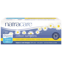 Natracare Organic 100% Cotton Tampons, Super 20 ea [782126002006]
