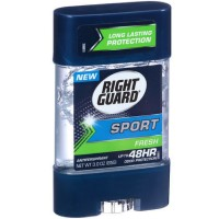 Right Guard Sport 3D Odor Defense, Anti-Perspirant Deodorant Clear Gel, Fresh 3 oz [017000068374]
