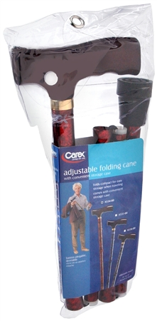 Carex Adjustable Folding Cane A534-00 1 Each [023601053404]