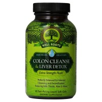 Well Roots Colon Cleanse & Liver Detox Fast-Acting Liquid Softgels 60 ea [710363582388]