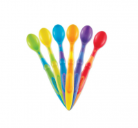 Munchkin Soft-Tip Infant Spoons, Assorted Colors 6 ea [735282100628]