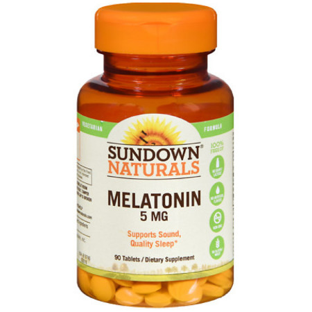 Sundown Naturals Melatonin 5 mg Tablets 90 ea [030768157456]
