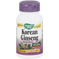 Nature's Way Korean Ginseng Standardized Vcaps 60 ea [033674617007]