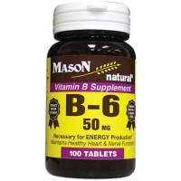 Mason Natural Vitamin B-6 50 mg Tablets 100 ea [311845057013]