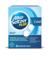 Alka-Seltzer Plus Cold Formula Effervescent Tablets Sparkling Original 36 Tablets [016500565024]