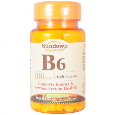 Sundown B-6 100 mg Tablets 150 Tablets [030768125905]