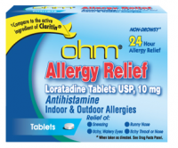 ohm Loratadine Usp 10 mg Allergy Relief Tablets 500 ea [051660526058]