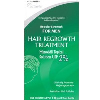 Minoxidil 2% Regular Strength Hair Regrowth Treatment For Men Solution 2 x 60 ml [2 month supply] [304720066750]