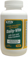 Rugby Daily-Vite Multivitamin Tablets with Iron & Beta-Carotene 1000 ea [305363546104]
