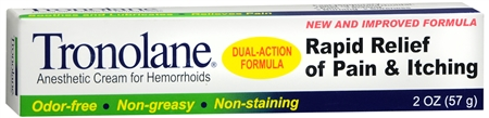 Tronolane Anesthetic Cream for Hemorrhoids 2 oz [311868814020]